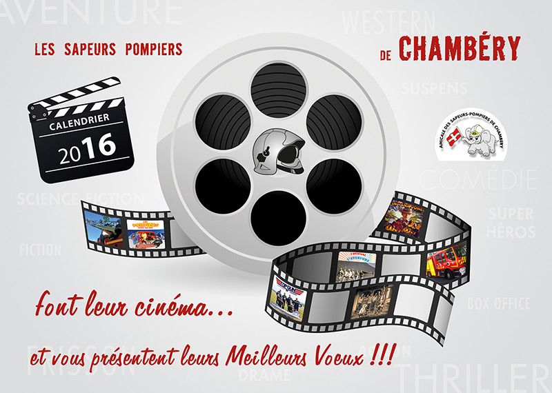 Les Pompiers Font Leur Cinéma - Calendrier Pompier - Editions Bernard Cheneval Services