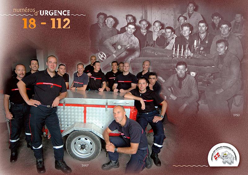 Pompiers D'hier Et D'aujourd'hui - Calendrier Pompier - Editions Bernard Cheneval Services