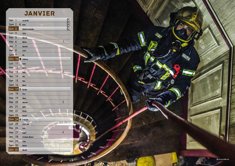 Collaboration Avec Un Photographe - Calendrier Pompier - Editions Bernard Cheneval Services
