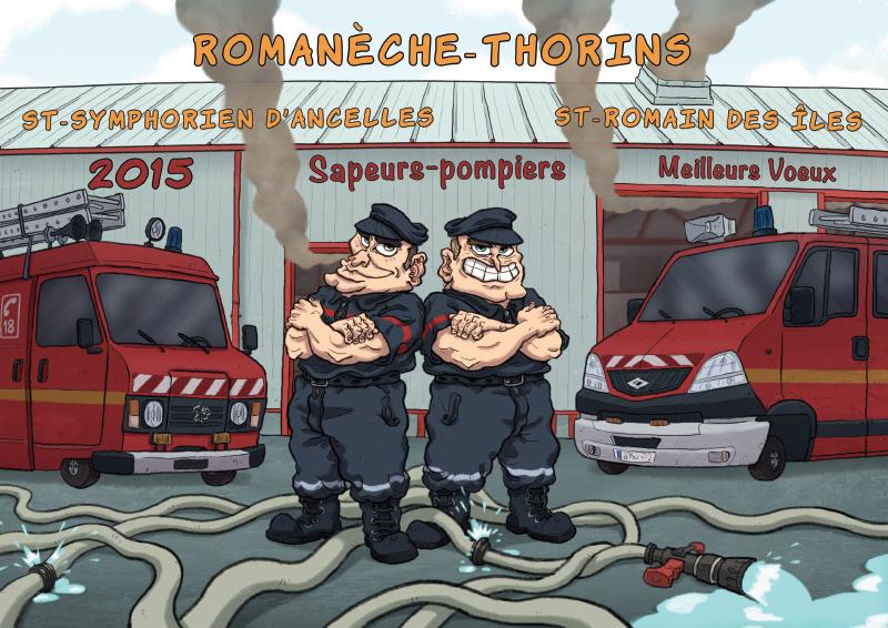 Les Pompiers En Bandes Dessinées - Calendrier Pompier - Editions Bernard Cheneval Services