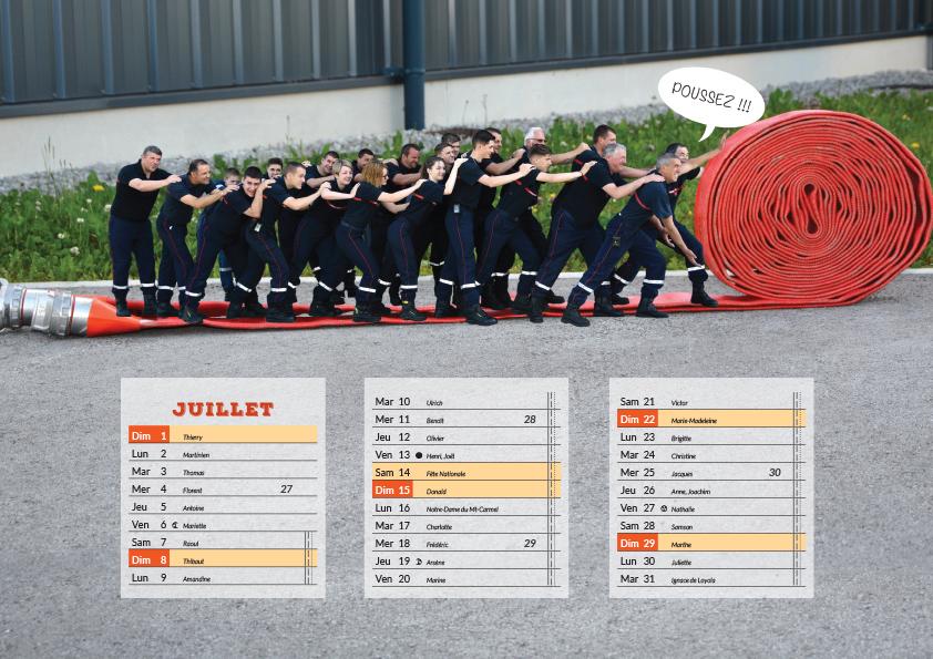 On A Rétréci Les Pompiers - Calendrier Pompier - Editions Bernard Cheneval Services