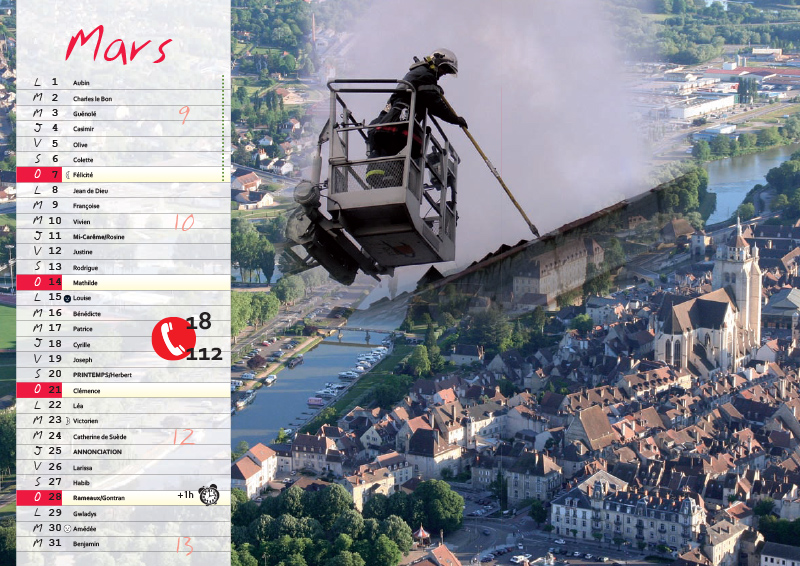À La Découverte Du Patrimoine Local - Calendrier Pompier - Editions Bernard Cheneval Services