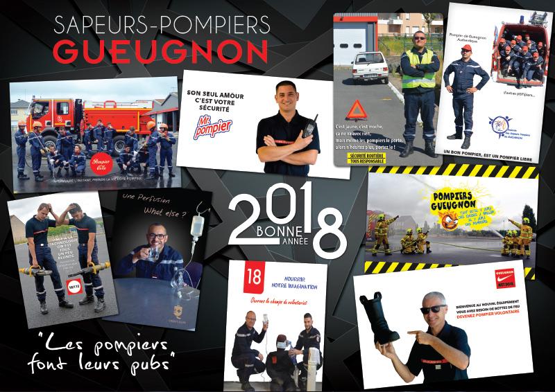 Les Pompiers Font Leur Publicité - Calendrier Pompier - Editions Bernard Cheneval Services
